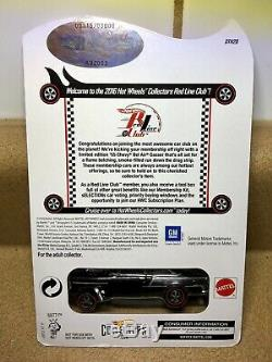 Hot Wheels 2016 RLC Exclusive Club Car Black 55 Chevy Bel Air Gasser #315/3000