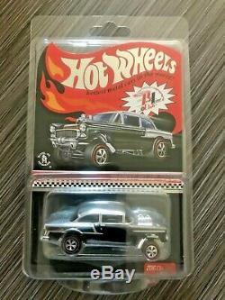 Hot Wheels'55 BEL AIR GASSER RLC 2016 Club Car Exclusive, Black & Chrome