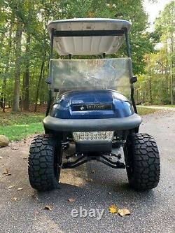 Lifted Club Car Precedent 48 Volt Golf Cart Blue / Black