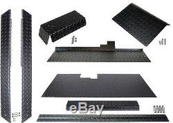 MODZ Club Car DS Golf Cart (Black) Diamond Plate Accessory Kit with Floor