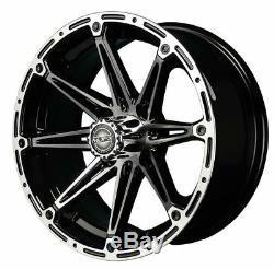 Madjax 12 Element Machined/Black Golf Cart Wheels/Rims (3+4) E-Z-GO & Club Car