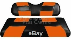 Madjax Riptide 2001-Up Black/Orange Two-Tone Front Seat Cover for Club Car DS Go
