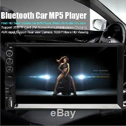 Mirror Link For GPS Double 2Din 7inch Car Stereo+Backup Camera Touch Radio Vedio