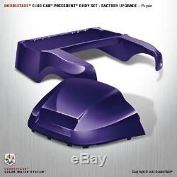 NEW Club Car Precedent Golf Cart Purple Front & Rear Black Body Cowl Set Kit