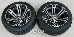 NEW Two Tires and ITP Rims For Golf Carts Club Car Yamaha EzGo Black Low Profile