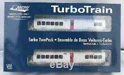 Rapido HO TurboTrain CN 200005 3 car set + 4 cars Club+Cafe+2 coaches RARE