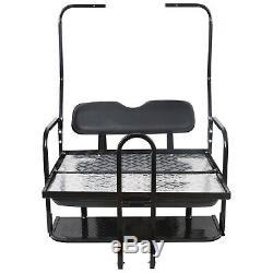 Rear Flip Folding Seat Kit with Grab Bar For 1982-2000.5 Club Car DS Golf Cart