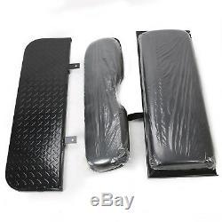 Rear Flip Seat Kit Back seat For 2000-2013 Club Car DS Golf Cart Folding Black