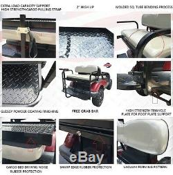 Rear Flip seat kit for Club Car Golf Cart DS (Black / 1982-2000) witht grab bar