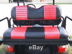 Red Black Two Tone Seat Covers Front Rear (4) Custom Fit Club Car Precedent