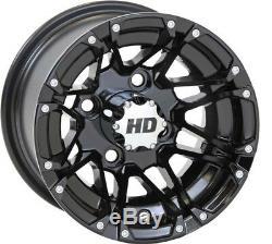 STI 10 HD3 Gloss Black Golf Cart Wheels/Rims E-Z-GO & Club Car