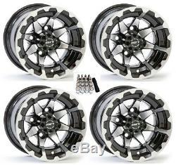 STI 10 HD6 Gloss Black Golf Cart Wheels/Rims E-Z-GO & Club Car