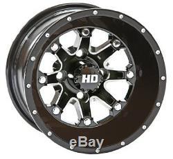STI 12 HD4 Gloss Black Golf Cart Wheels/Rims E-Z-GO & Club Car