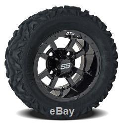 Set Of 4 GTW 10 Storm Trooper Golf Cart Wheels On Barrage Mud Tires Combo