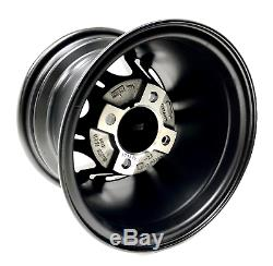 Set of 4 10 inch Golf Cart Matte Black GTW Specter Beta Wheel With 34 Offset