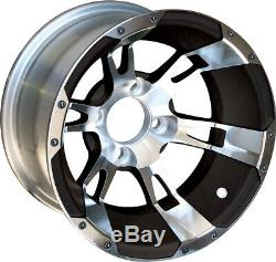 Set of 4 12 inch Yellow Jacket Wheels (Machined/Black) on Low Profile Tires