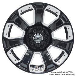 Set of 4 14 inch GTW Nemesis (Black) Golf Cart Aluminum Wheels 14x7