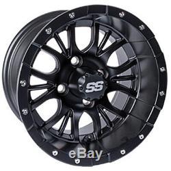 Set of 4 Golf Cart Diesel 14 inch Matte Black Wheel With 34 Offset