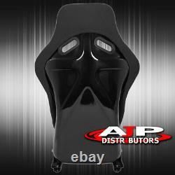 Spg Profi Style Full Bucket Racing Automotive Car Seats With Sliders Black Cloth