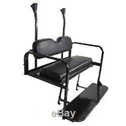 Steel Club Car Precedent Golf Cart Flip Folding Rear Back Seat Kit Black