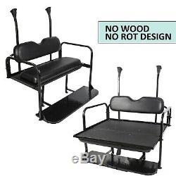 Steel Club Car Precedent Golf Cart Rear Flip Seat Kit (Black)
