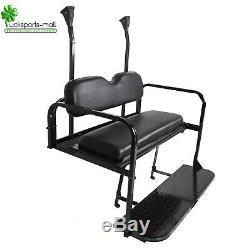 Steel Rear Flip Seat Kit (Black) For 04-Up Club Car Precedent Golf Cart
