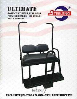 ULTIMATE Rear Flip seat kit for Club Car'DS' Golf Cart 1983-2000.5 (BLACK)