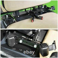 Universal Golf Cart Retractable 4 Seat Belts Mounting Bracket Set EZGO Club Car