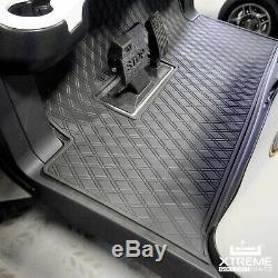 Xtreme Mats Full Coverage Golf Cart Floor Liner Mat -BLACK- Fits Club Car Models