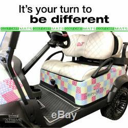 Xtreme Mats Full Coverage Golf Cart Floor Liner Mat Black For ClubCar Models